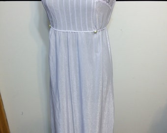 Light Lavender Vintage 1960's / 1970's Sheer Floor Length Nightgown Lingerie by Undercover Wear