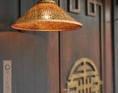 Oriental Bazar Hand-woven and Coiled Bamboo Wall Lamp Shade