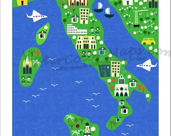 Kids Maps Italy Map For Kids Childrens Maps Childrens Map Of Italy