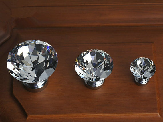 Crystal Dresser Knob Glass Knobs Drawer Knobs Pulls By