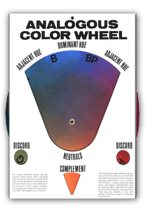 Description The Original Analogous COLOR WHEEL