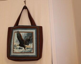Handmade Eagle Shoulder/Tote Bag