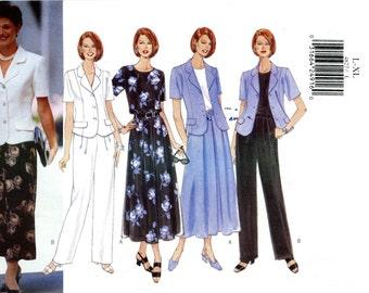 Butterick 4827 Easy Wardrobe Jacket Top Skirt Pants Size 16 18 20 22 L XL Uncut Sewing Pattern 1997