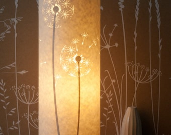 Tall Dandelion Clocks Table Lamp