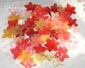 40 Lucite Acrylic Mini Daffodil Flower Beads Summer Garden Assortment
