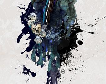 Sugarskull - digital art print - A4 - 8.3 x 11.7 in.