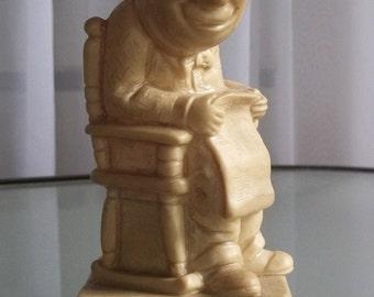 "W & R Berries ""World's Greatest Grandpa"" Figurine, Vintage Home Decor, Sentimental Figurine"