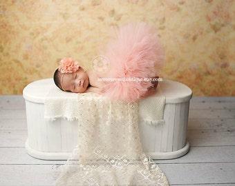 Newborn Peach Tutu Peach Tutu Baby Tutu Baby Tutus Peach Baby Tutu Newborn Tutu And Headband Baby Tutu And Headband Newborn Photo Prop