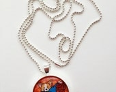 Glass Corgi Valentine's Day Love Pendant Necklace