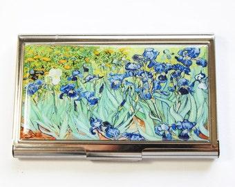 Van Gogh case, Business Card Case, Van Gogh Irises, Card case, business card holder, Vincent van Gogh, Irises (2927)
