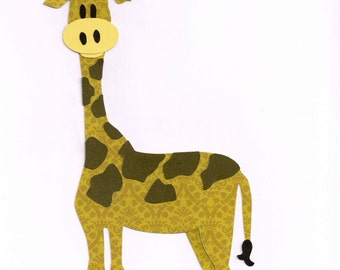 Giraffe Applique Template / Pattern, Zoo Animals, Jungle Animals, Safari Animals, Wall Hanging, Child Decor, DIY Iron/Sew On Applique Patch