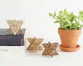 Three Sacred Geometric Ornaments, Model Kit Dual Tetrahedron, Star of David DIY Gift, Laser Cut, Unique Gift