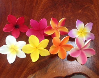 Hawaiian Frangipani Plumeria flower for  float , hair clip ,decorate by Floratiflower
