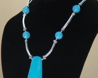 Blue Quartz Pendant Necklace