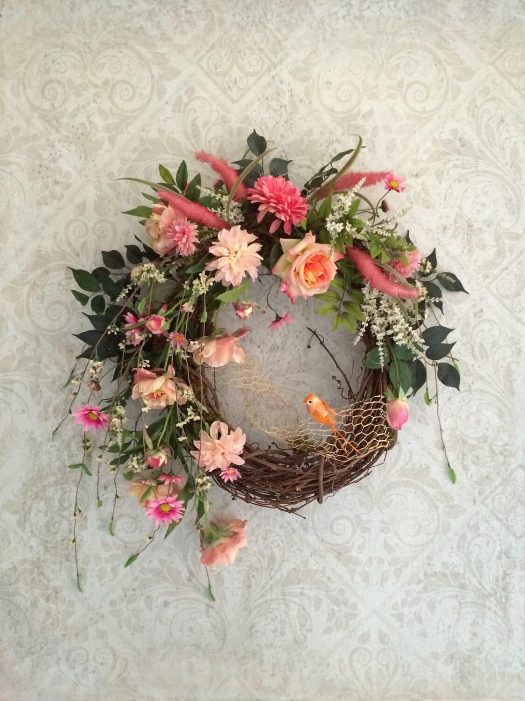 Spring Door Wreath Spring Wreath Spring Decor Front Door