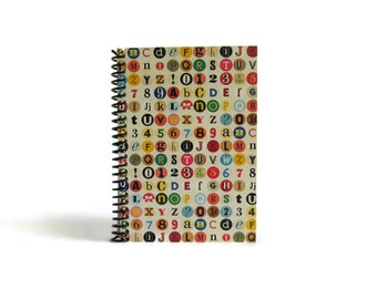 Colorful Dots Back to School Pocket Journal, Blank Notebook, Sketchbook, Diary, A6, Draft, Cute, Gifts Under 15, Writing, 4x6, Spiral Bound