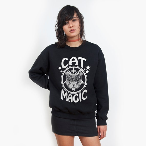 Cat Magic Black sweatshirt UNISEX sizes S M L XL