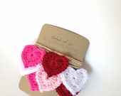 Valentine heart garland, love garland, heart garland, sweetheart garland, be mine hearts, spring decor, red pink garland