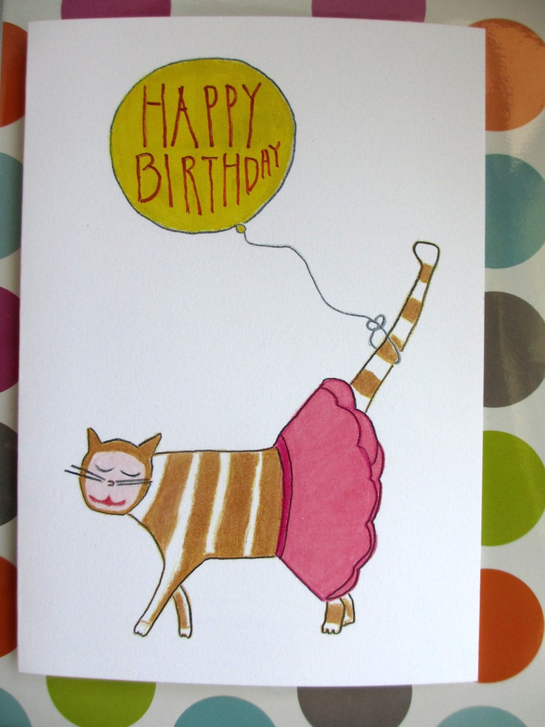 Happy Birthday Dancing Card Happy Birthday Cat Card Cat