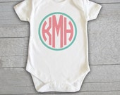 Baby Onesie - Monogram Personalized Customized Baby Name Initials