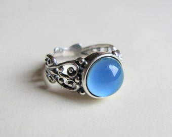 Mood Ring Sterling Silver 925  - 10mm - High Quality