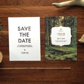 Wedding Invitation & RSVP file - Eleanor: Woodland, Ethereal, Romantic Customizable