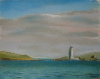Hoy High from Stromness (2), original landscape pastel drawing