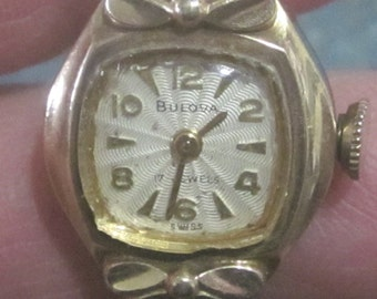 Ladies Bulova 17 Jewel 10K RGP Watch 1950 Era