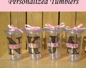 Personalized Bridesmaid Tumbler Personalized Tumbler, Bridesmaid Gift, Bachelorette Party, Bridesmaid Glass