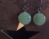 Jade Coin Earrings