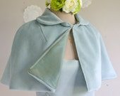 Something Blue short fitted cape women short capelet retro style cape bridal cape