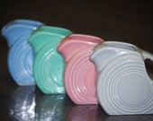 Fiestaware Mini Disc Pitchers - Sea Mist,  Periwinkle, Rose, & Pearl Grey