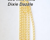 ON SALE 30 feet of premium gold plated chain with 3x6 links for jewelry and crafts, bulk lot, necklace extension, bracelet lengthener