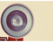 Camera Photograph  - Blue Flash - Vintage Flash Bulb - Vintage Camera - Vintage Photograph- Camera Photography