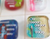 MADE TO ORDER - Feminist Shower Decoration: No Woman Needs a Hero