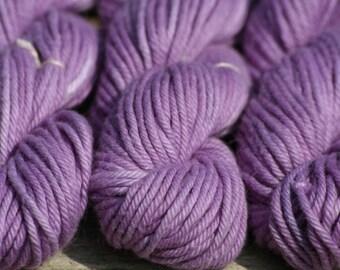 Handpainted Yarn - Purple Cotton 3 oz 160 yards Worsted