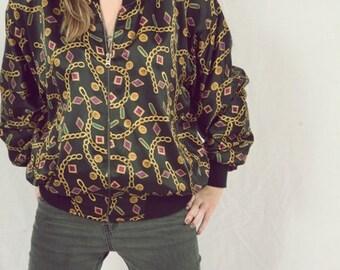 vintage jewels silk jacket