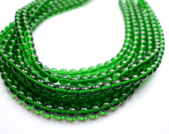 The Michelle- Emerald Czech Statement Necklace