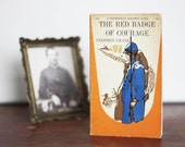 One-of-a-Kind Vintage Paperback of The Red Badge of Courage with Hand-Embroidered Cover