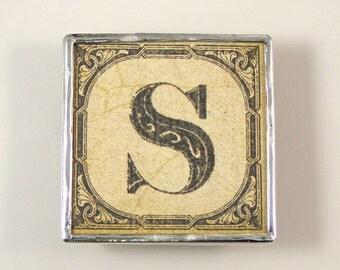 Letter S Initial Magnet
