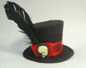 SAMPLE SALE-Black Skull Facinator Hat