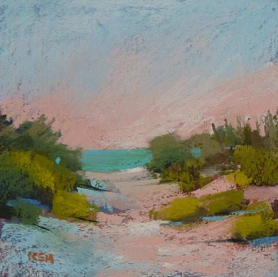 Landscape Painting Cape Cod Beach Dunes By