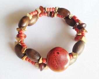Handcrafted Boho Beaded Bracelet