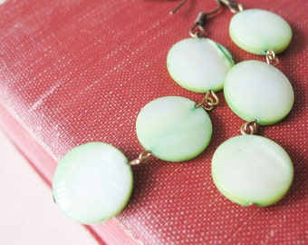Pastel Green Earrings Spring Beaded Jewelry For Women