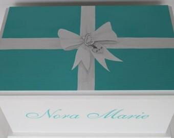 Tiffany Girls Keepsake Chest Memory Box personalized hand painted