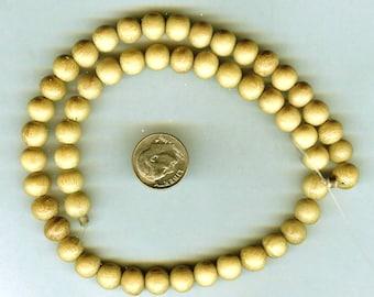 "UNFINISHED 8mm Unique Matte Nangka Wood Round Wood Beads 16"" Strand"