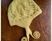 Miel Hat PATTERN PDF Digital Download Knit Knitting Wool Lace Baby Toddler Child Hand Knit