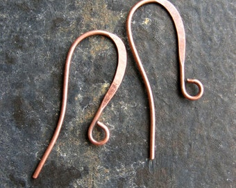 3 pairs Antiqued Copper Plated Ear Wires