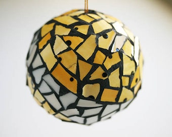 Striped Mosaic Ball Ornament