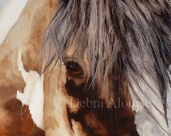 Window to the Soul Horse Eye of the Horse Paint Draft Horse Original Painting Art Equine Print